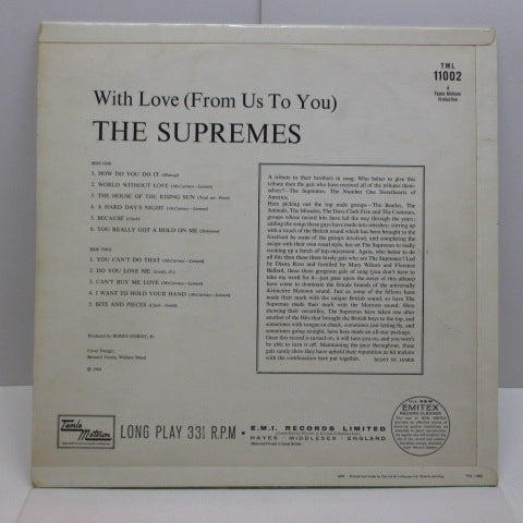 SUPREMES - With Love (From Us To You) (UK Orig.Mono/CFS)