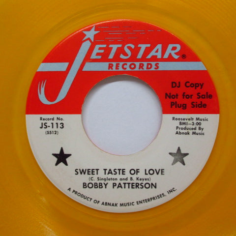 BOBBY PATTERSON & THE MUSTANGS - Busy,Busy Bee / Sweet Taste Of Love
