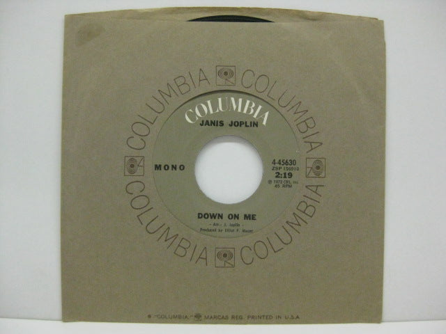 "JANIS JOPLIN - Down On Me (US Orig.Mono 7""+CS)"