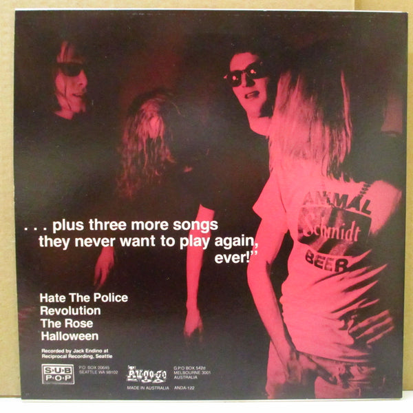 "MUDHONEY  (マッドハニー)  - Plays ""Hate The Police . . . (OZ Ltd.Pink Vinyl 10"")"