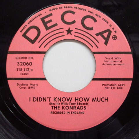 KONRADS - I Didn't Know How Much (US:PROMO)