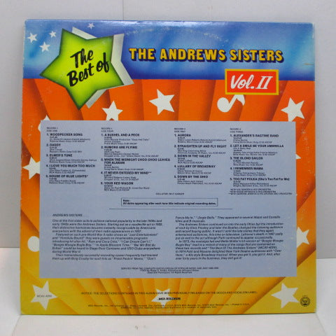 ANDREWS SISTERS - The Best of Andrews Sisters Vol.2  (US Orig.Mono 2xLP)