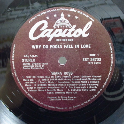 DIANA ROSS-Why Do Do Fools Fall In Love (UK Orig.LP/GS)