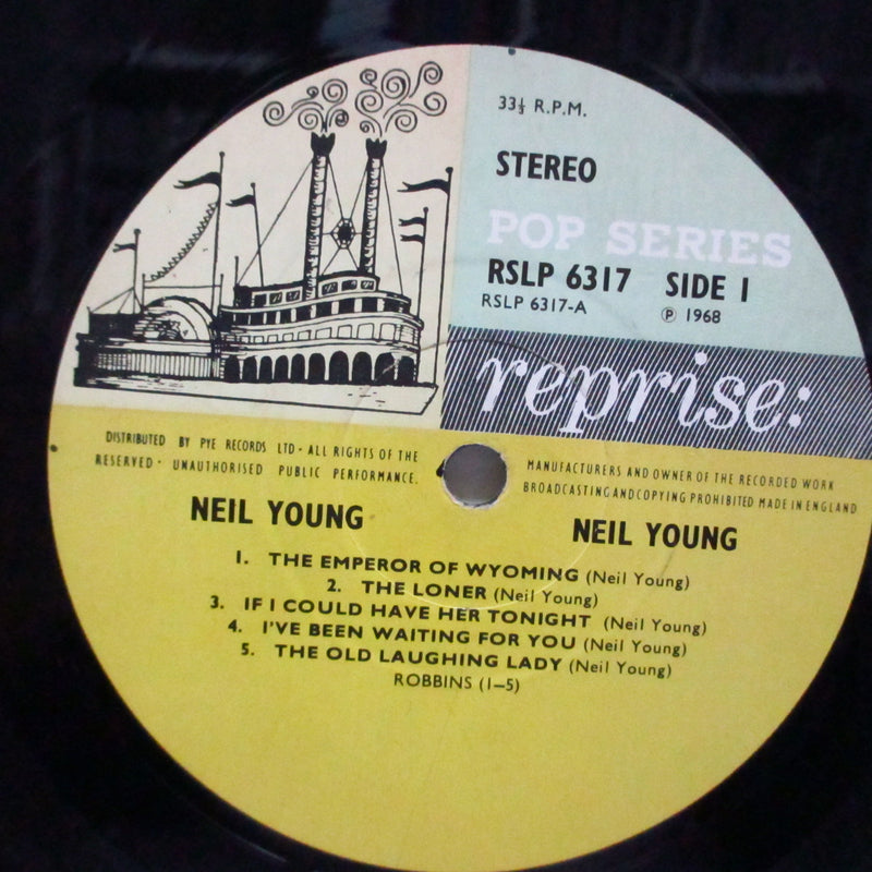 NEIL YOUNG (ニール・ヤング)  - Neil Young (1st) (UK Orig.Stereo LP/両面CS)