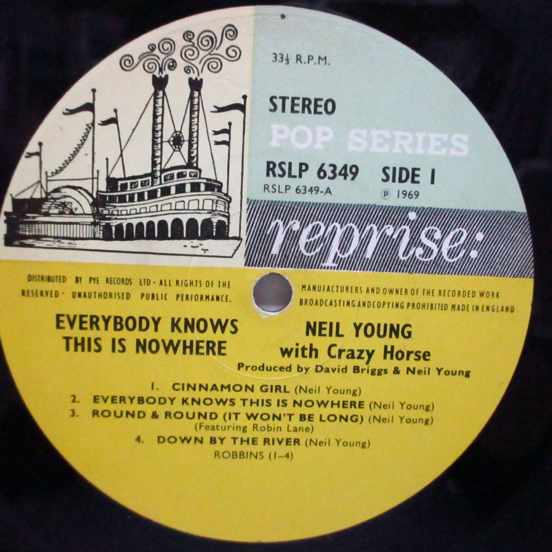NEIL YOUNG (ニール・ヤング)  - Everybody Knows This Is Nowhere (UK Orig.Stereo LP/CFS)