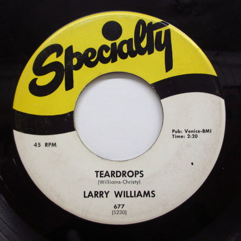 LARRY WILLIAMS - Give Me Love / Teardrops (Orig)