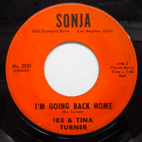 IKE & TINA TURNER - I'm Going Back Home (Block Logo)