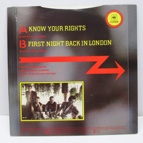 "CLASH, THE - Know Your Rights (UK Orig.7"")"