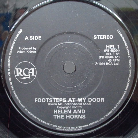 "HELEN AND THE HORNS - Footsteps At My Door (UK Orig.7"")"