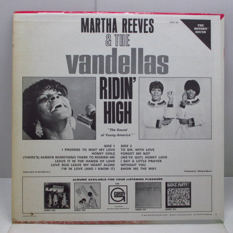 MARTHA & THE VANDELLAS - Ridin' High (US Orig.Stereo LP)