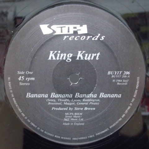 "KING KURT - Banana Banana +2 (UK Orig.12""-EP/Stickered CVR)"