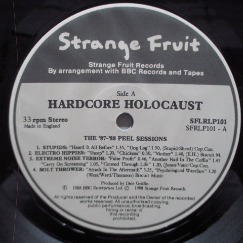 V.A. - Hardcore Holocaust (87-88 Sessions) - The Peel Sessions (UK Orig.LP)