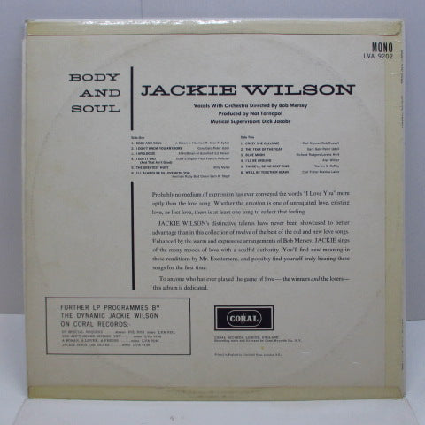 JACKIE WILSON - Body And Soul (UK Orig.MONO/CFS)