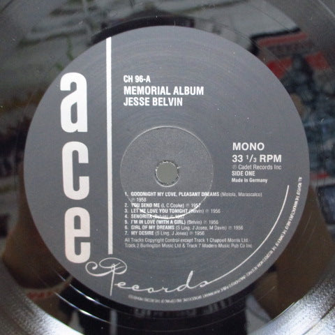 JESSE BELVIN - Memorial Album (UK Orig.MONO)