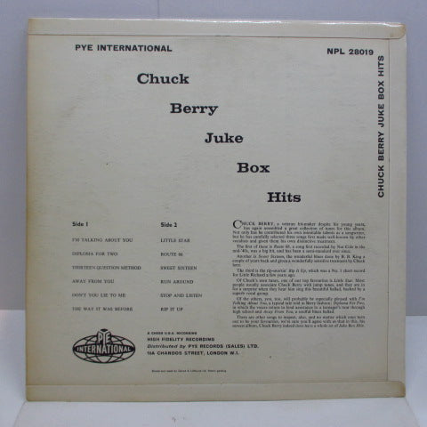 CHUCK BERRY - Juke Box Hits (New Jukebox Hits ) (UK Orig.MONO/CFS)