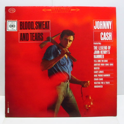 JOHNNY CASH - Blood, Sweat And Tears (US 60's CBS Re Export Stereo LP)