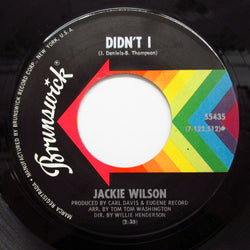 JACKIE WILSON - Didn't I / Let This Be A Letter
