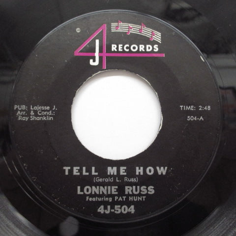 LONNIE RUSS feat. PAT HUNT - Tell Me How / Flip Flop (Orig)