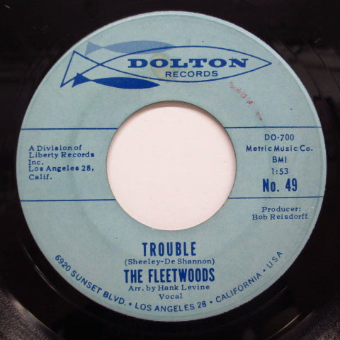 FLEETWOODS - Billy Old Buddy ('62 Dolton Orig)