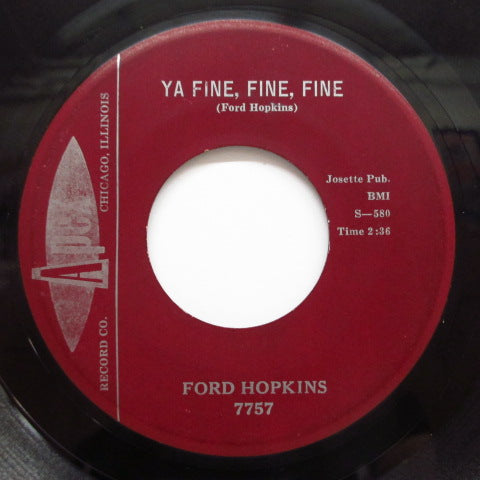 FORD HOPKINS - Ya Fine, Fine, Fine (Oorig)