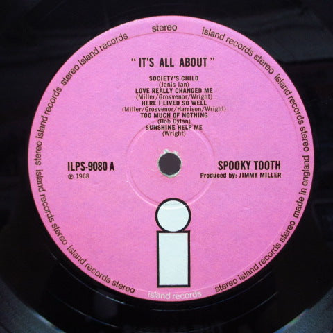 SPOOKY TOOTH  - I'ts All About (UK 2nd Press Stereo LP/両面CS)