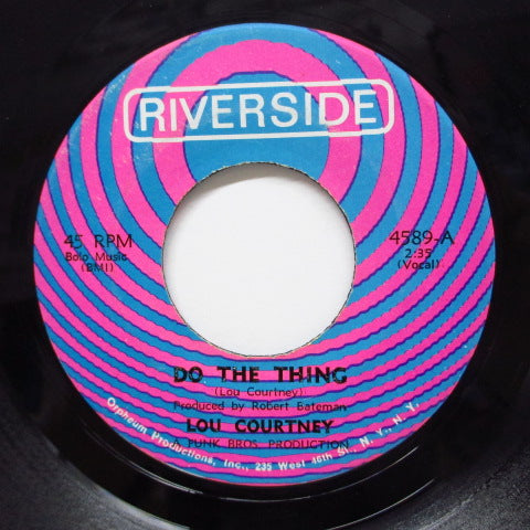 LOU COURTNEY - Do The Thing / The Man Is Lonely