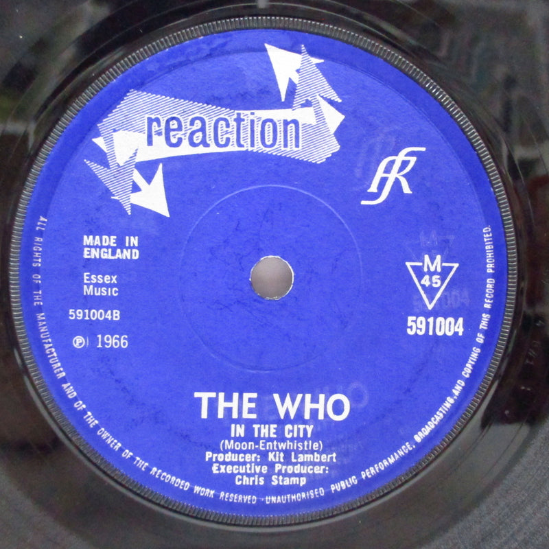 "WHO (フー)  - I'm A Boy / In The City (UK Orig.Flat Center 7"")"