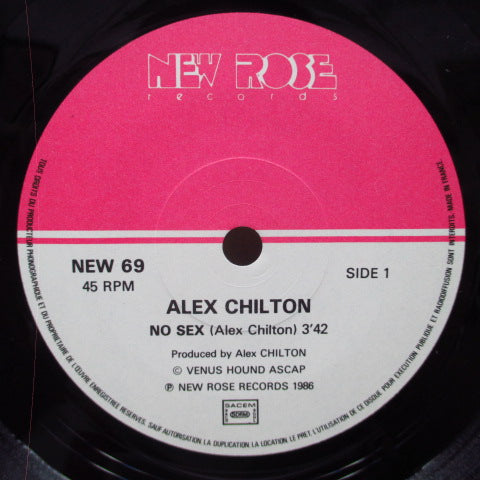 "ALEX CHILTON - No Sex (France Orig.2x7"")"