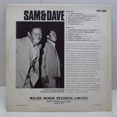 SAM & DAVE - Sam & Dave (UK Orig.)