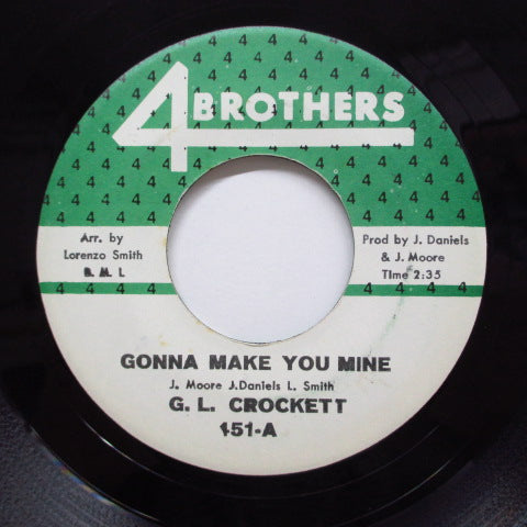 G. L. CROCKETT - Gonna Make You Mine