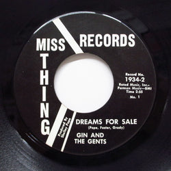 GIN AND THE GENTS - Dreams For Sale (Miss Thing-1934)