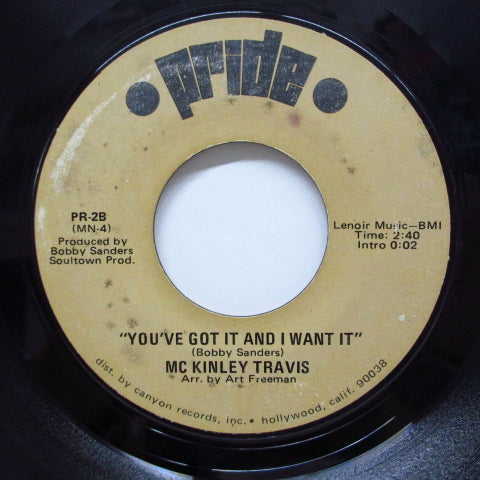 McKINLEY TRAVIS - You've Got It And I Want It