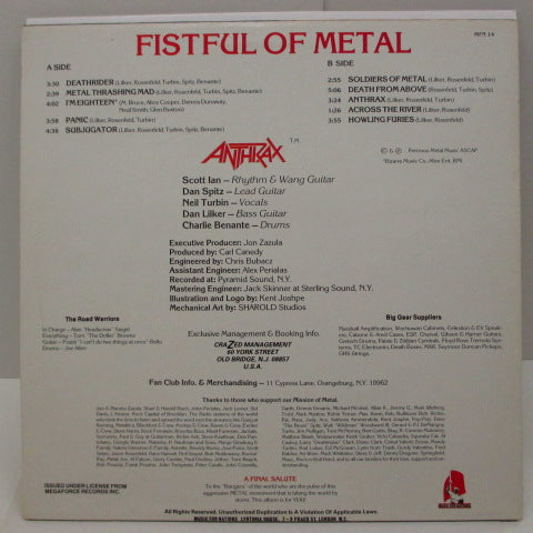 ANTHRAX - Fistful Of Metal (UK Orig.LP)