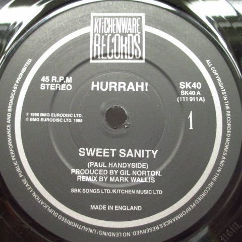 "HURRAH! - Sweet Sanity (UK Orig.7""/SK 40)"