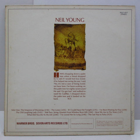 NEIL YOUNG - Neil Young (1st) (UK '71 Re LP/RSLP 6317 CS)