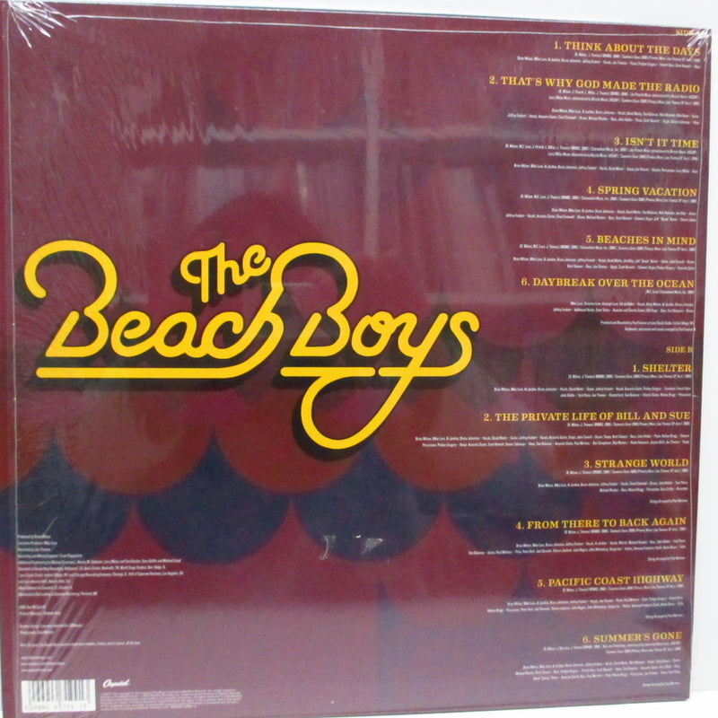 BEACH BOYS - That's Why God Made The Radio (EU '12 RSD Ltd.LP/Stickered CVR)