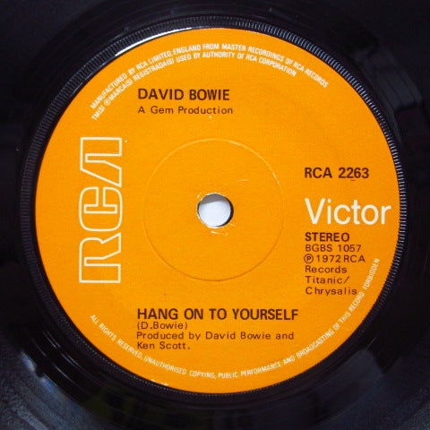 DAVID BOWIE - John, I'm Only Dancing (UK Orig.Flat Center/Acoustic Version)