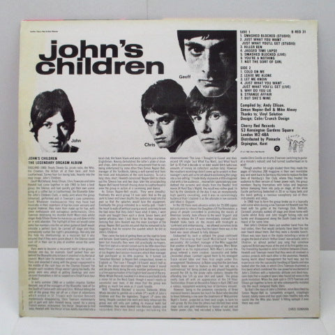 JOHN'S CHILDREN - Legendary Orgasm Album (UK Orig.LP/CS)