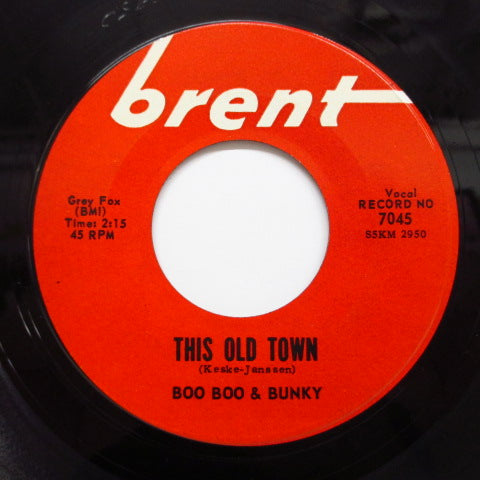 BOO BOO & BUNKY - This Old Town / Turn Around (US:Orig.)