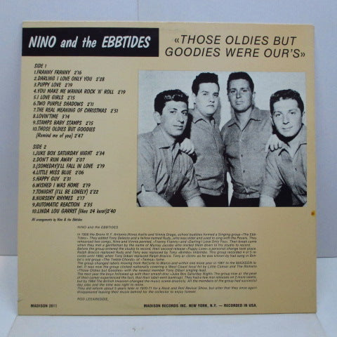 NINO & THE EBBTIDES - Those Oldies But Goodies Were Our's (Euro LP)