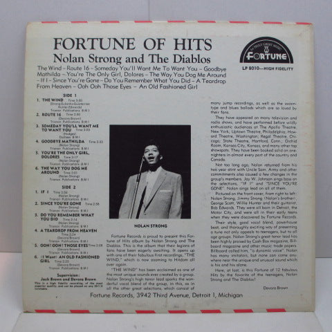 NOLAN STRONG & THE DIABLOS - Fortune Of Hits (70's Reissue Mono)