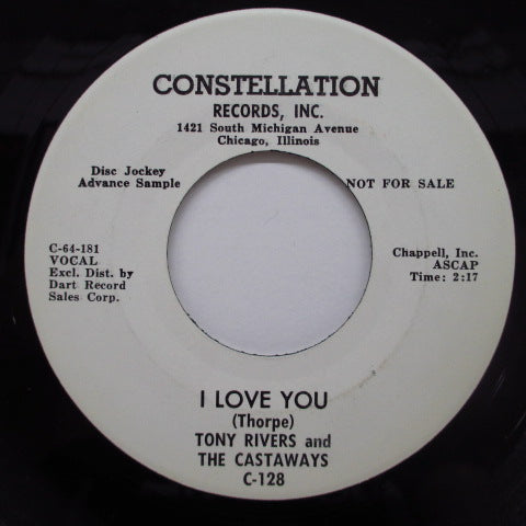 "TONY RIVERS & THE CASTAWAYS - I Love The Way You Walk (US Promo 7"")"