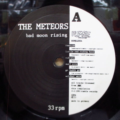 METEORS - Bad Moon Rising (German Orig.Black VInyl LP)