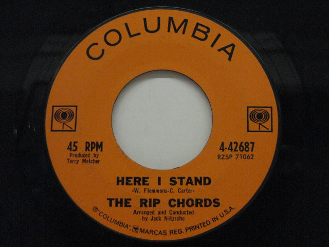 RIP CHORDS - Here I Stand / Karen