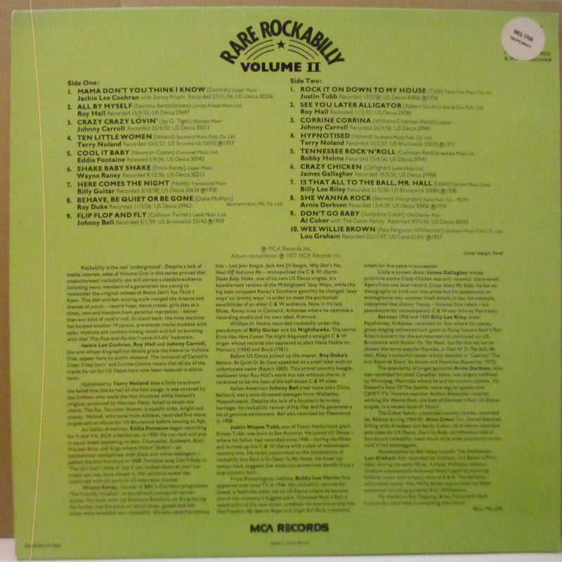 V.A. - Rare Rockabilly Vol.2 (UK '83 Re Mono LP)