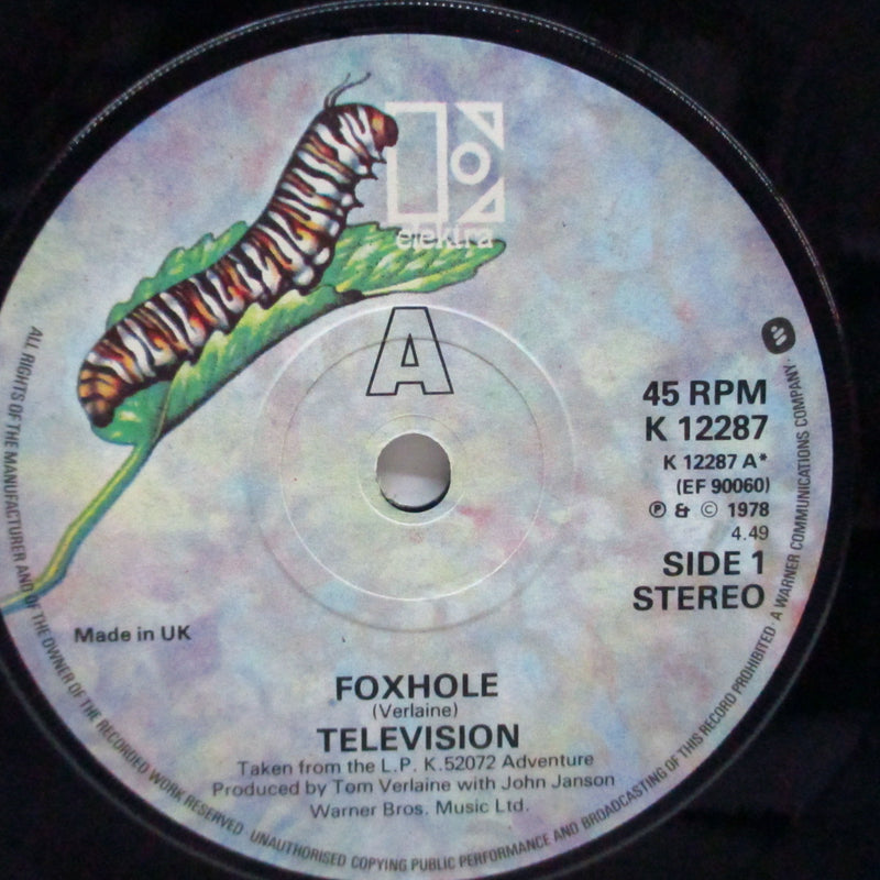 "TELEVISION (テレヴィジョン)  - Foxhole / Careful (UK Orig.7""+CS)"