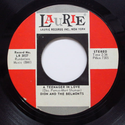 DION & THE BELMONTS - A Teenager In Love (Re) – Time Bomb Records