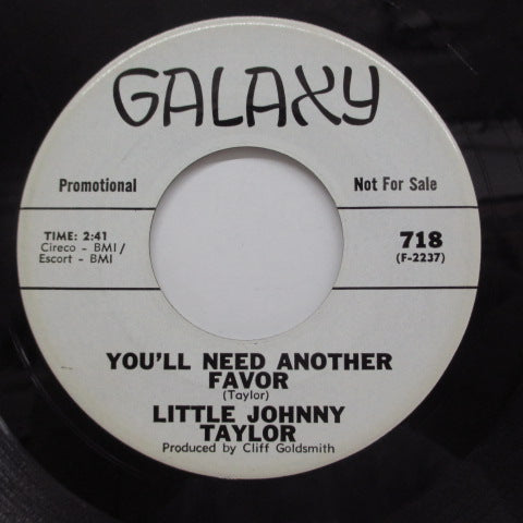 LITTLE JOHNNY TAYLOR - What You Need Is A Ball (Promo)
