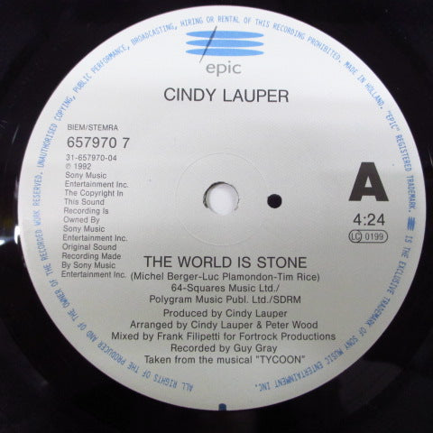 "CYNDI LAUPER - The World Is Stone (EU Orig.7"")"