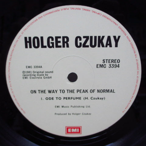 HOLGER CZUKAY - On The Way To The Peak Of Normal (UK Orig.LP)